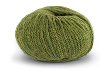 Knit At Home Chunky Alpaca Wool Garn Alpacka Ull Mix 50 g Grön Melange 623
