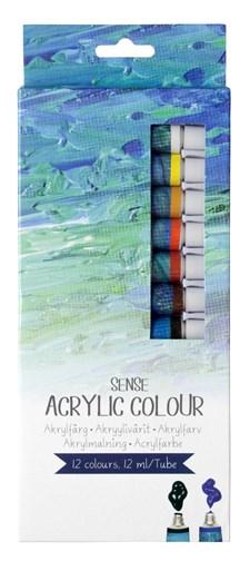 Akrylfärgset 12-pack Sense Artist Collection 12X12 ml