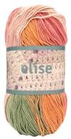 Elise 100g Oranssi, vaaleanpunainen, vihreä batiikki (69018)