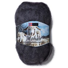 Viking of Norway Mohair 50 gr tummanharmaa