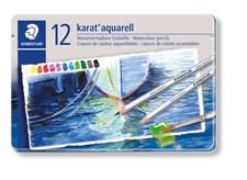 Karat® akvarell 12-pack, av högsta kvalitet, i metallask.