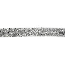 Dekorationsband, B: 10 mm, silver, 5m