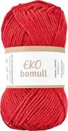 Järbo Eko bomull Garn Eko Bomull 50g Röd (63218)