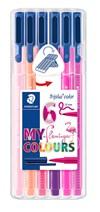 Triplus® color 6-pack, i STAEDTLER-box, 1 mm fiberspets. Flamingo