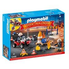 Adventtikalenteri, Palopelastus rakennustyömaalla, Playmobil (9486)