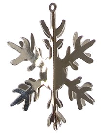 Metallikoriste 3D Lumihiutale