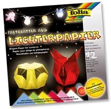 Origami latern papper 30*30cm 80gsm 12 ark i 6 olika färg ark