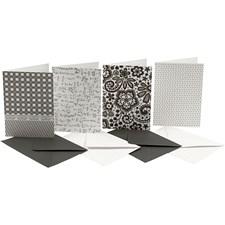 Kirjekuoret ja korttipohjat, kortin koko 10,5x15 cm, 220 g, 16 laj.