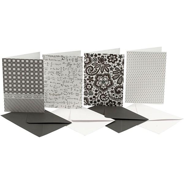 Brevkort med Kuvert 10,5x15 cm Mix 16 st