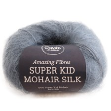 Adlibris, Super Kid Mohair Silk, 25 g, Steel Blue A558
