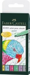 Huopakynä Pitt Artist Pen Faber-Castell 6 kpl pastelliväriä