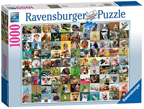 Flott 99 Funny Animals, Puslespill, 1000 brikker, Ravensburger WV-89