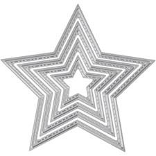 Kuvioterä, koko 4,5-12 cm, tähti, 1kpl