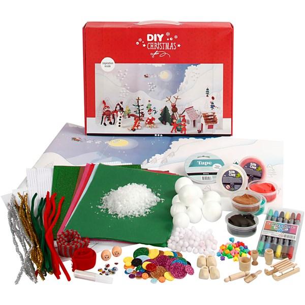 Julpyssel Materialset till Jullandskap - julpyssel