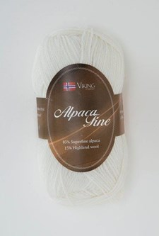 Viking of Norway Alpaca Fine 50 gr Hvit 600