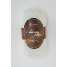 Viking of Norway Alpaca Fine Garn Alpackamix 50 g vit 600