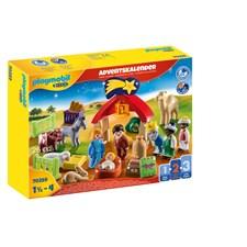 Playmobil 1.2.3 Adventskalender Julkrubba