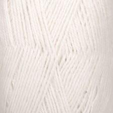 Drops Flora Uni Colour Garn Ullmix 50g White 02