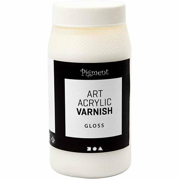 Art Acrylic sluttfernis, Blank transparent, hvit, blank, 500ml