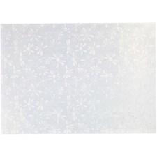 Perlemorspapir, A4 21x30 cm, 120 g, 10 ark, hvit perlemor