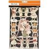 Glansbilder, ark 16,5x23,5 cm, store og små engler, 3ark