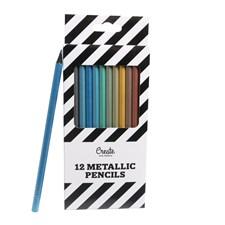 Fargeblyanter Metallic Adlibris 12 farger