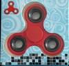 Fidget Spinner, Röd