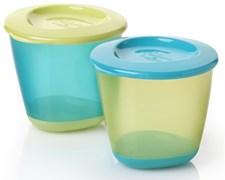 Explora PopUp Weaning Pots 2-pack, Blå/Grön, Tommee Tippee