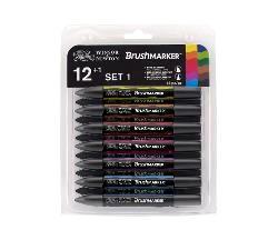 Brush Marker 12 Vibrant (12 sterke farger)