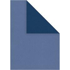 Strukturpapir, A4 210x297 mm, 100 g, 20 ark, lys blå/mørk blå