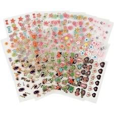 Mini Stickers, str. 1-13 mm, 900 ass. ark