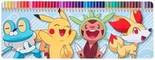 Färgpennor i plåtask, 50 stycken, Pokémon