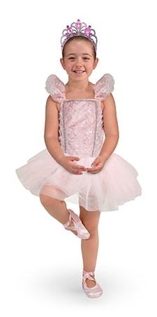 Ballerinadrakt med tiara, 3-6 år, Melissa & Doug
