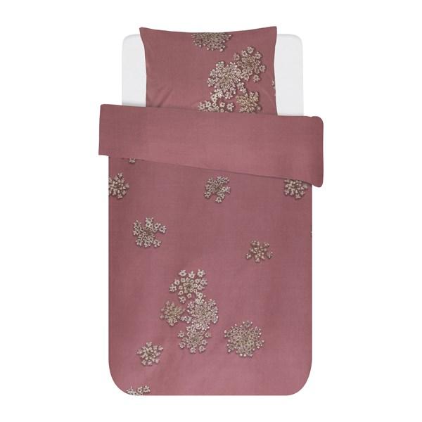 Essenza Home Lauren Påslakanset 100% Bomull 150x210 + 50x60 cm Dusty rosa