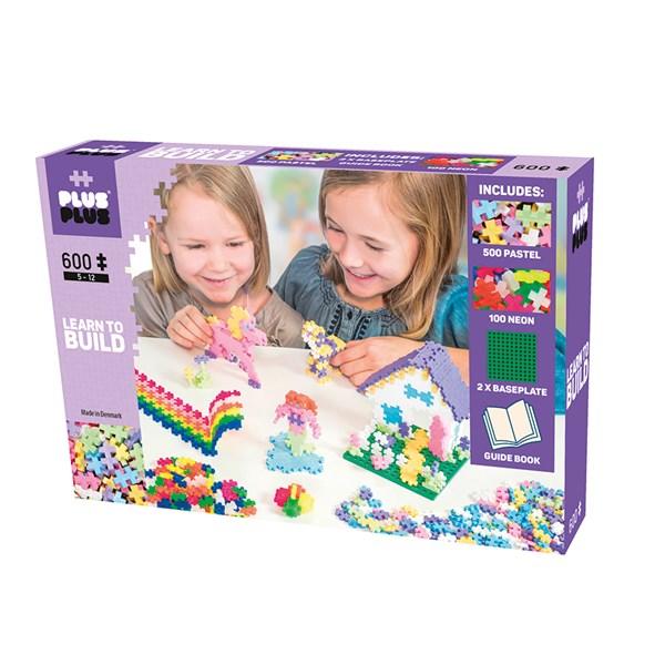 Plus Plus MINI Pastel  600 bitar - klossar & byggleksaker