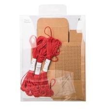 Box Broderi, Brun 3-pack, 3 x 8 m garn, 1x nål
