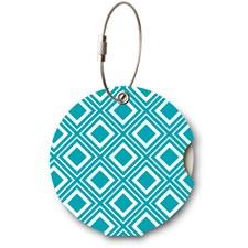 Addatag bagagetag - Diagonal turquoise