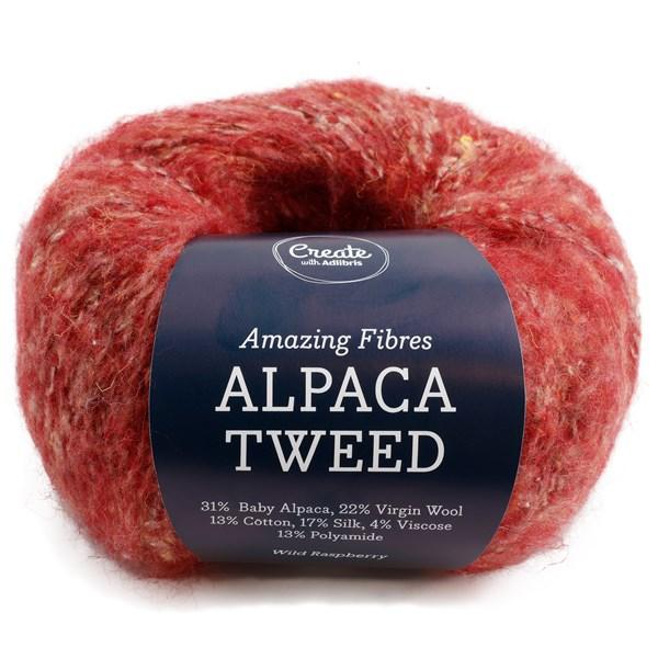 Adlibris Alpaca Tweed 50g Wild Raspberry A743