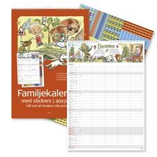Väggkalender 2017-2018 Burde Familjekalender med stickers FSC Mix