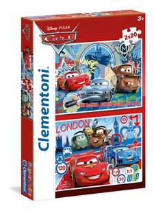 Pussel 2 i 1 Cars 2, 40 bitar, Clementoni
