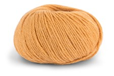 Knit At Home Classic Alpacka Wool Garn Ullmix 50 g Varm Gul 514