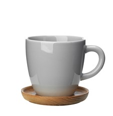 Kaffekopp med treskål, Höganäs, 33 cl, Kiselgrå, Rörstrand