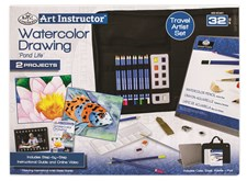 Stort vannmalesett (akvarell) – Art Instructor