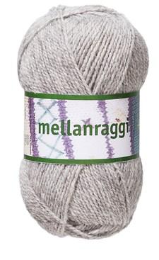 Mellanraggi Garn Ullmix 100g Ljusgrå (28211)