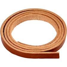 Läderband 10 mm x 2 m Natur