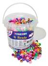 Playbox, Plastpärlor i Hink, Kongopärlor med Stora Hål, 1000 st