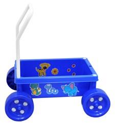 Lær-å-gå-vogn, Blå, Plasto