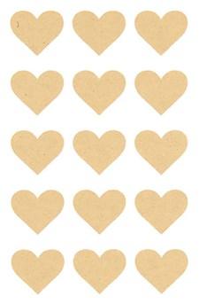 Klistermärken Papper Hjärta 60 st