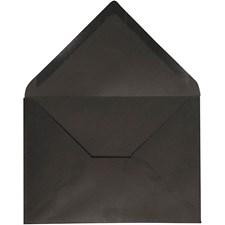Kirjekuori, koko 11,5x16 cm, 100 g, 10 kpl, musta