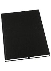 Muistikirja GRIEG Design A4 100 g sidottu viivaton musta